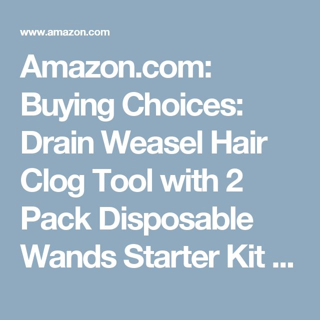 Amazon.com: Buying Choices: Drain Weasel Hair Clog Tool with 2 Pack Disposable Wands Starter Kit for Drain Cleaning