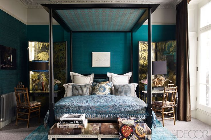 Cottage Talk Going Dark In The Bedroom Design Manifestdesign with regard to master bedroom teal pertaining to Household