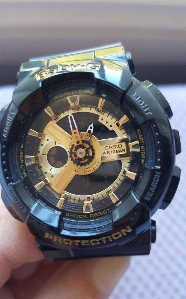 Casio Baby-G Analogue/Digital Female Black/Gold Watch  CASIO  WR 10 BAR