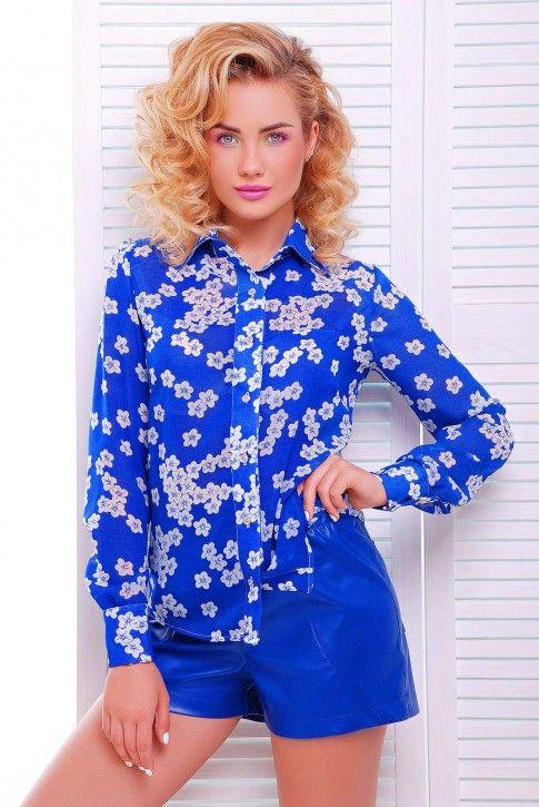 #синяя #рубашка #шифон