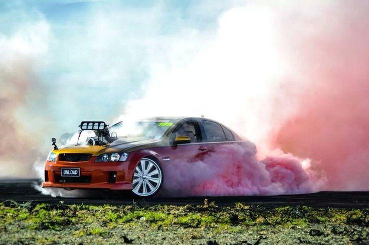 Holden Commodore burnout