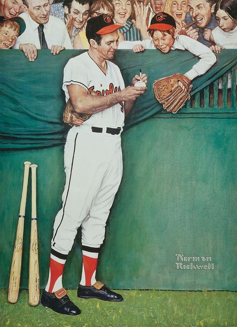 Brooks Robinson painted by Norman Rockwell