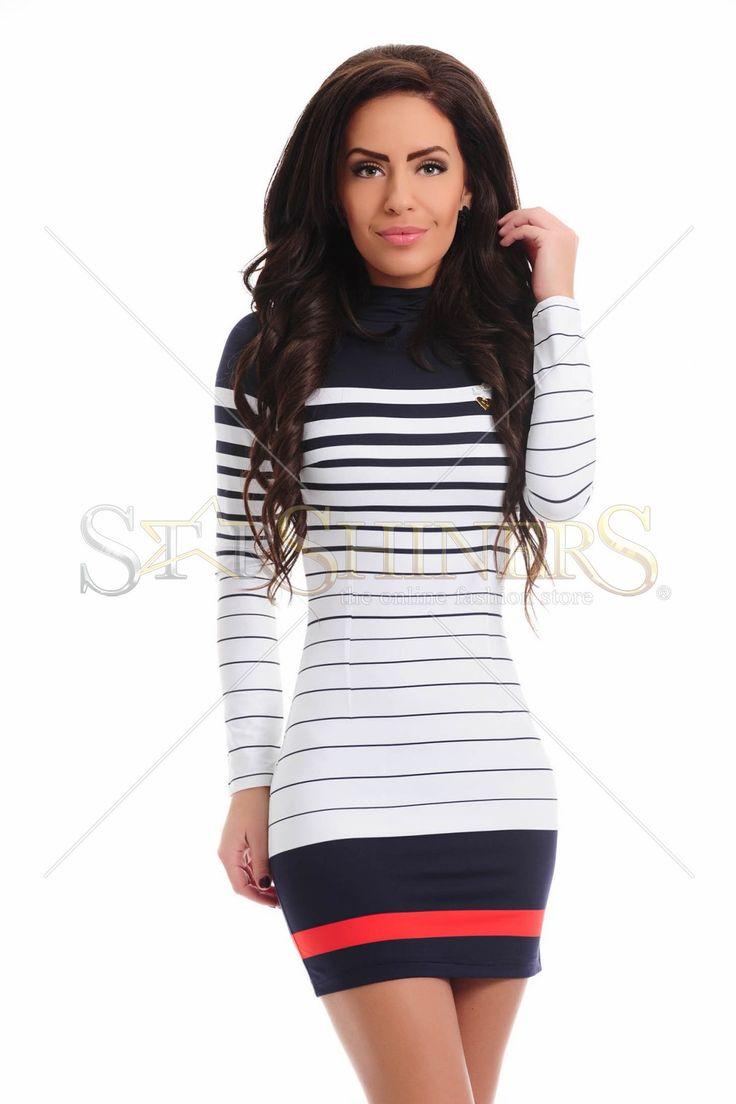 MissQ Happy Lines White Dress