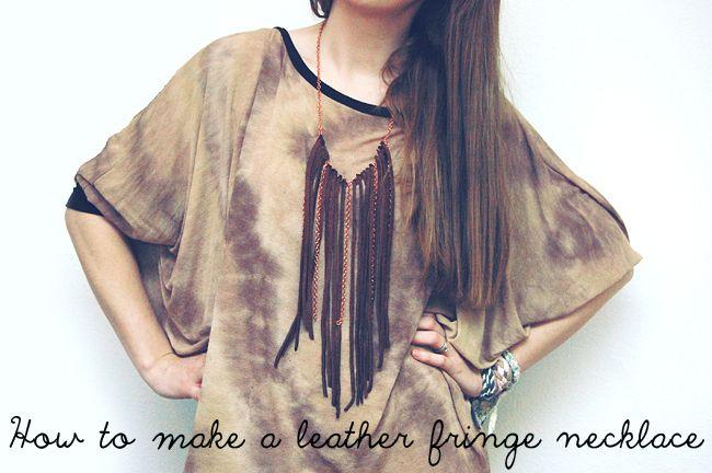 DIY Leather fringe necklace.Leather Fringe Chains, Diy Leather, Leather Necklaces, Leather Fringes, Jewelry Accessories, Leather Jewelry, Stylish Leather, Jewelry Leathe