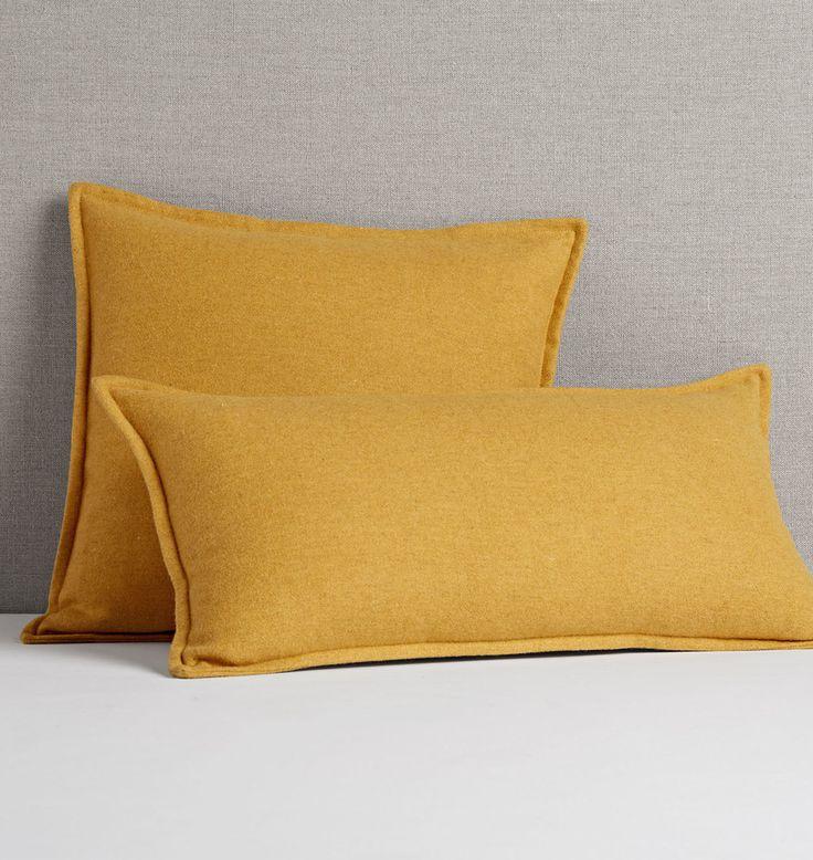 Italian Wool Pillow Cover Mustard 18