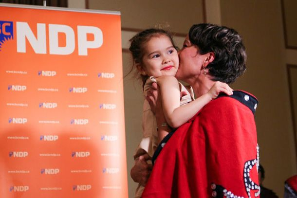 FIRST First Nations Woman to be elected to BC MLA!!!!  'This is our victory,' says Vancouver byelection winner, while New Dems also take Coquitlam.
