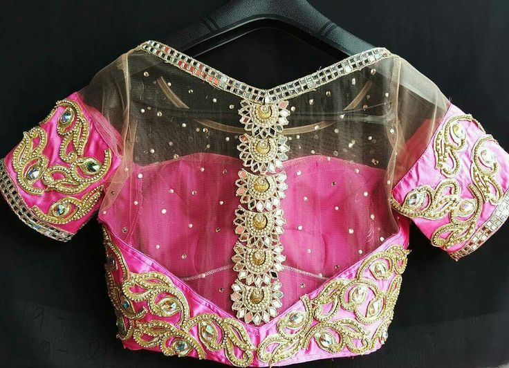 cutwork pattern blouse