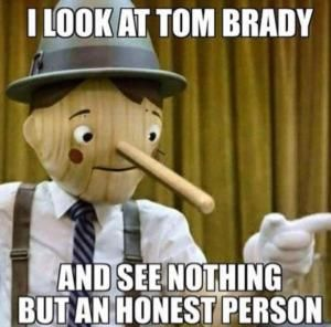 I look at Tom Brady And see nothing but an honest person