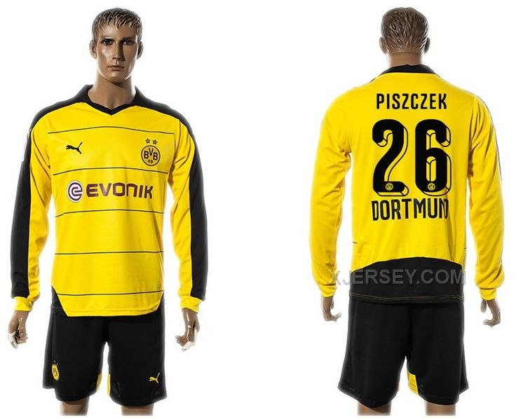 http://www.xjersey.com/201516-dortmund-26-piszczek-home-long-sleeve-jersey.html 2015-16 DORTMUND 26 PISZCZEK HOME LONG SLEEVE JERSEY Only $35.00 , Free Shipping!