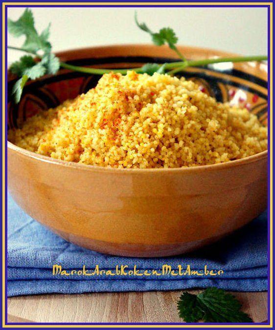 Een gemakkelijke manier om couscous te bereidenwanneer je geen zin hebt in stomen in tappes enmeer van die veel tijd kostende methoden.Dit is een couscous voor drbij dus voor