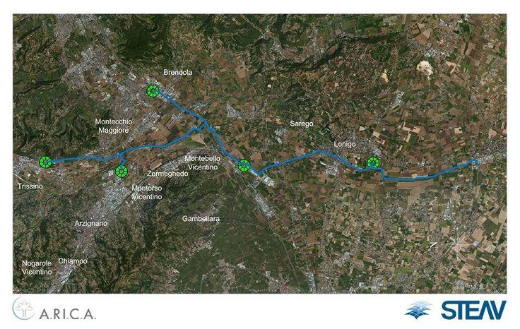 RILIEVO+BIM Su incarico del Consorzio A.RI.C.A. (Aziende Riunite Collettore Acque) di Arzignano, STEAV Srl ha proceduto al rilievo del tracciato del collettore terminale di trasferimento dei reflui dei cinque impianti di depurazione di Arzignano, Trissino, Montebello, Montecchio e Lonigo, raccogliendo i dati conoscitivi e gestionali della rete di competenza, realizzandone poi il modello BIM grazie ai software di Autodesk AutoCAD Civil 3D e Storm & Sanitary Analysis.