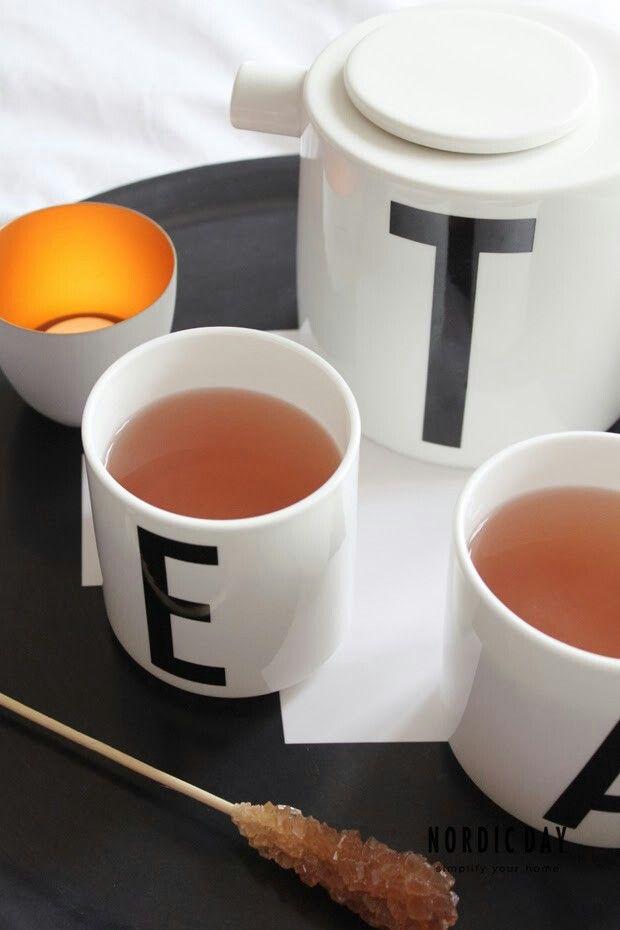 Tea letter cup design
