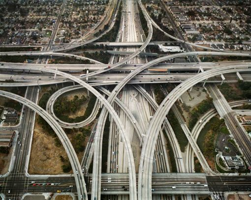 The Judge Harry Pregerson Intechange, L.A. One of the most complicated interchanges in the U.S. it permits entry and exit in all directions between the I-105 and the I-110.