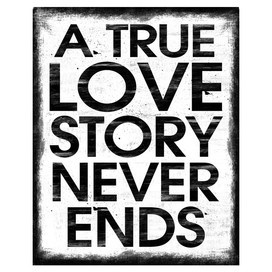 I pinned this True Love Story Wall Art from the Sweets for