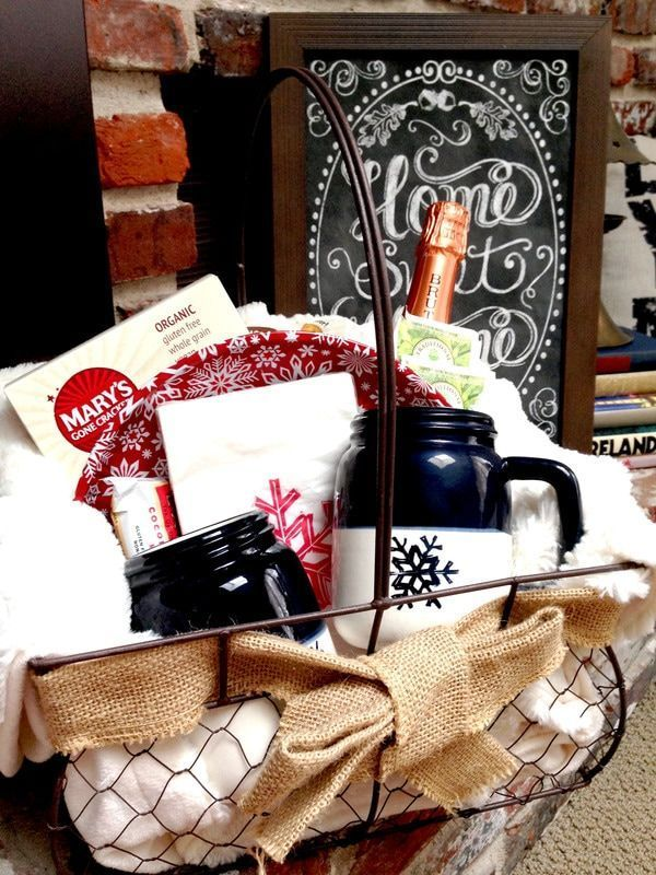 1673 best fabulous gift ideas images on pinterest bricolage craft indoor winter picnic basket thrifty and creative diy gift negle Images