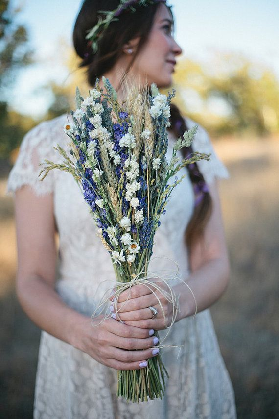 Wildflower Wedding Brides Bouquet of Lavender von paulajeansgarden
