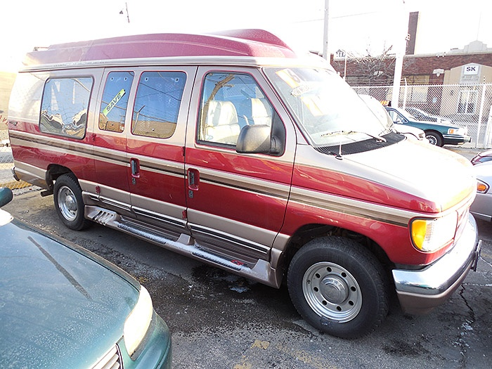 Here's a 1996 Ford E250 Conversion Van that I have.  It has 99,000 miles.  Let me know what you think.