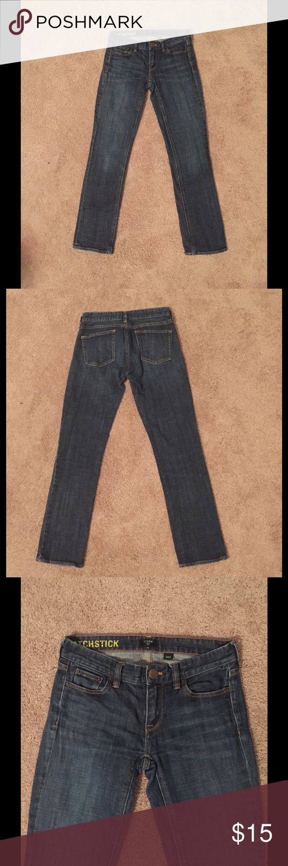 J. Crew Matchstick Jeans Front button replaced. 98% cotton, 2% spandex. Straight leg. SIZE IS 25S WHICH MEANS IT HAS SHORTER LEG LENGTH. Machine wash cold. J. Crew Jeans Straight Leg