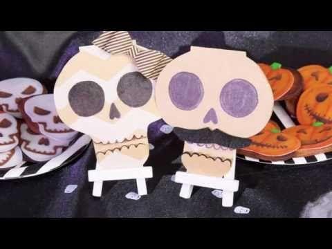 DIY Halloween invitations Squelette - YouTube