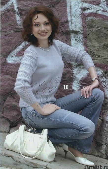 Пуловер красивым узором спицами. Пуловер с ажурным узором женский | Домоводство для всей семьи