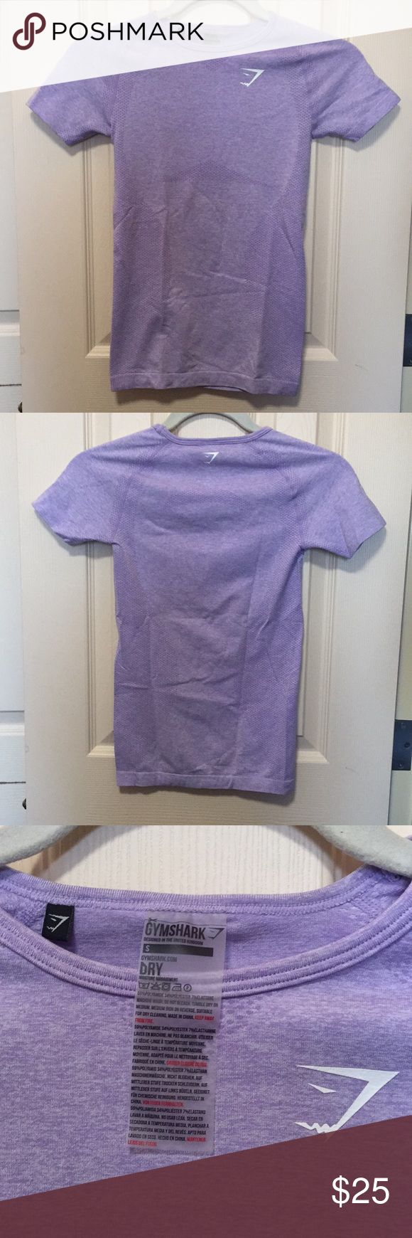 Gymshark Seamless T-shirt This shirt has been worn 2-3 times so it is in perfect condition! It is in a beautiful soft lilac marl color. Gymshark Tops Tees - Short Sleeve