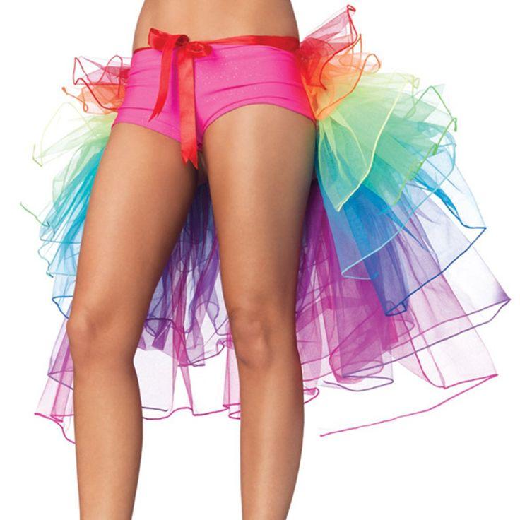 Luckshop2012 Regenbogen Multicoloure Ballett-Tanz-Rüschen Layered Tiered Kleid Rock: Amazon.de: Bekleidung