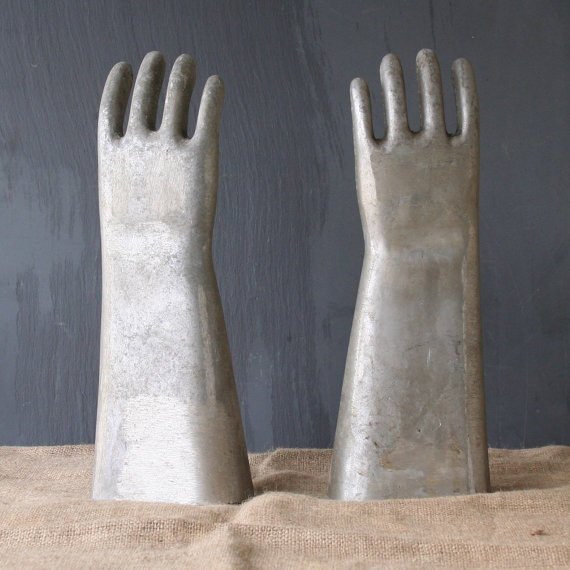 Large Industrial Metal Glove Mold by RamonaMorningbird