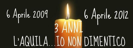 oggi 6 aprile 2012 ricorre il terzo anniversario del terremoto che colpì l'Aquila e altre città abruzzesi, causando la morte di 309 persone, oltre a danni a case monumenti. Dopo tre anni la situazione è ancora la stessa: L'Aquila è ancora da ricostruire!