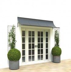 Wide zinc galvanized steel metal door canopy. Enhance a patio entrance or French doors with a scoop door canopy from Garden Requisites http://www.garden-requisites.co.uk/products/door-canopies/
