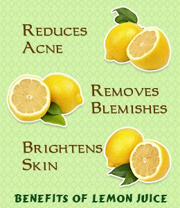 12 Benefits of Lemon Juice for Your Facial Skin With its amazing benefits, lemon juice is like a blessing for the facial skin. This humble kitchen ingredient works wonders for the skin.