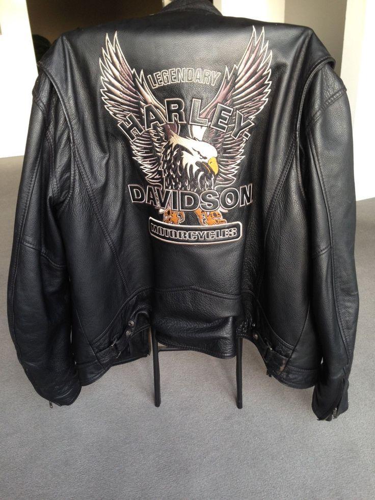"Harley-Davidson ""Legendary Eagle"" Black Leather Jacket ..."