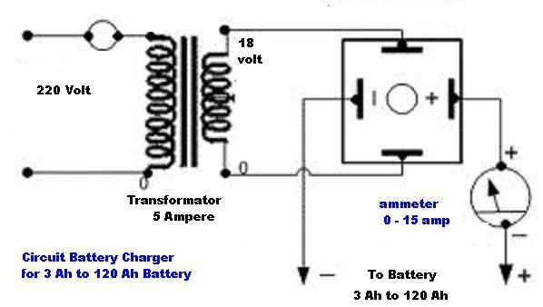 car battery charger diagram