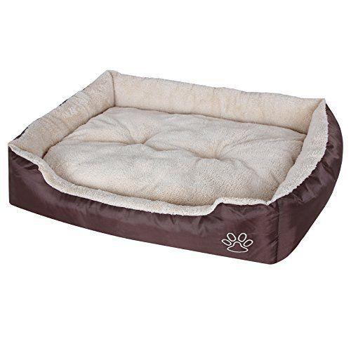 Songmics XL Panier Lit Pour Chien Dog Bed Coussin Matelas 75 x 58 cm PGW03Z: Price:25.99 Ce panier pour chien avec un coussin double faces…