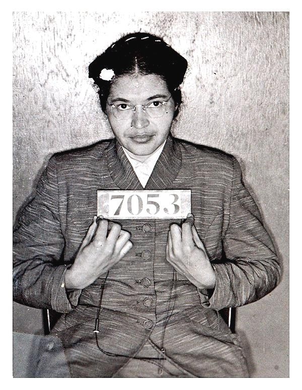 "Dec. 1, 1955: Rosa Parks Is Arrested for Refusing to Give up Bus Seat. On this day in 1955, Rosa Parks refused to give up her seat for a white passenger, leading to her arrest and sparking the Montgomery Bus Boycott. For many, this day became a symbolic start for the civil rights movement.  americanexperiencepbs's acclaimed ""Eyes on The Prize"" series covered all the major events of the civil rights movement. On the accompanying site, read the national press during the ..."