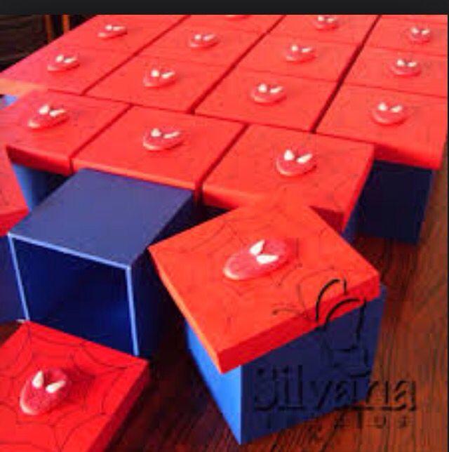 Cajas / dulceros de Spiderman