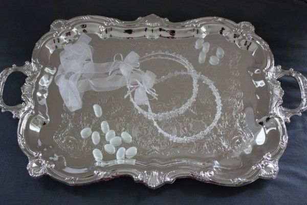 Large Silver Plated Tray, $105.00 at Greek Wedding Shop ~ http://www.greekweddingshop.com