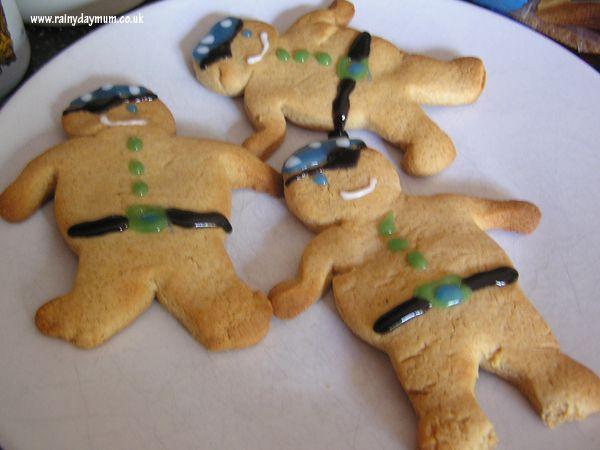 Pirate gingerbread men