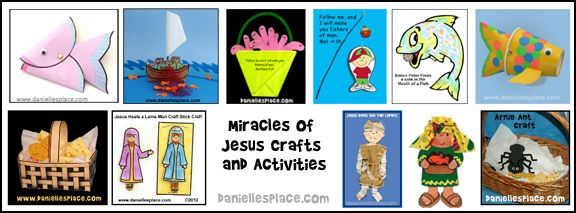 Miracles of Jesus Bible Crafts and Learning Activities