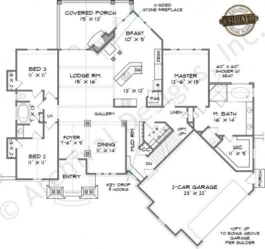 Riverstone Cottage Retirement House Plans Rustic House