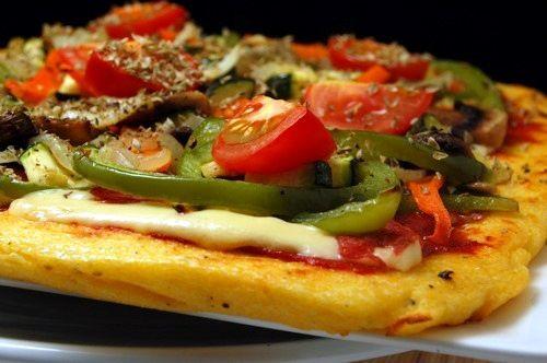 Polentapizza met geroosterde groenten