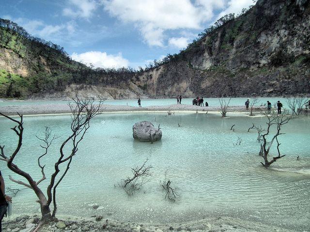 View Nature tourism Crater Putih, Ciwidey Bandung, Indonesia