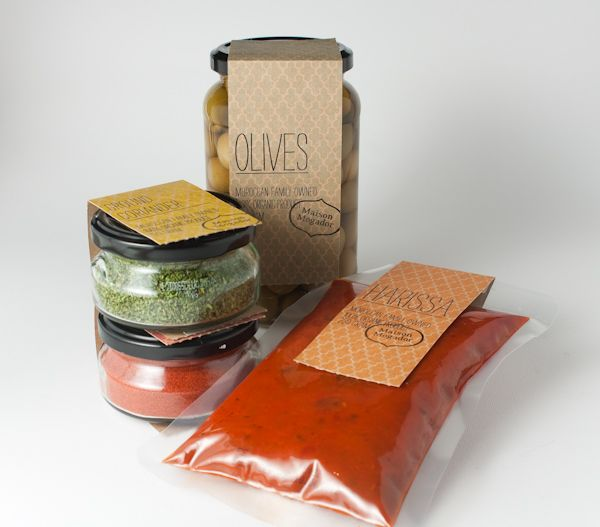 Maison Mogador    Maison Mogador is a family owned business that produce fresh and organic Moroccan food and spices.  The business is about to enter multi-national market, therefore they wanted a new look for their packaging range. The brief was to create a packaging solution that is contemporary, yet display authentic Moroccan feel and owned.