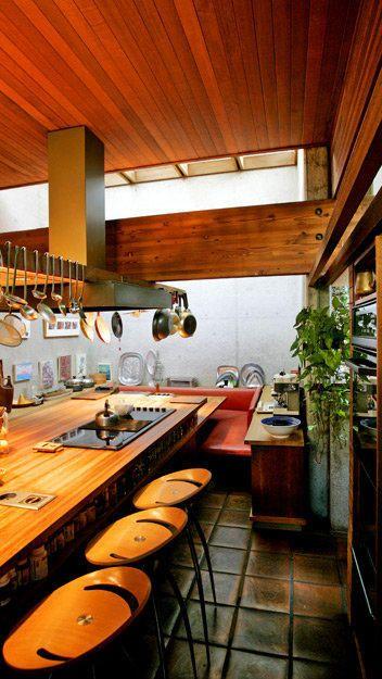 Ray Kappe house, barkrukken!!! plaat uit 1 stuk, hangende pannen