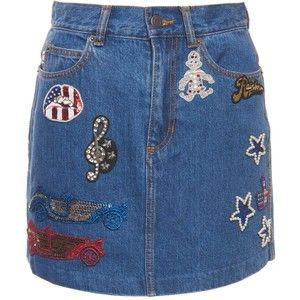 Marc Jacobs High Waist Indigo Denim Mini Skirt