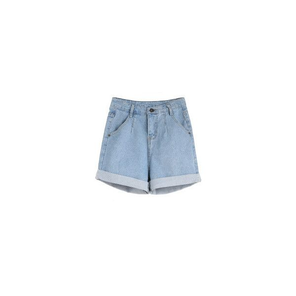 Women's Shorts - White, Leather, Red & Knee Length Shorts | Romwe.com ❤ liked on Polyvore featuring shorts, jeans, red jean shorts, white shorts, jean shorts, long denim shorts and white leather shorts