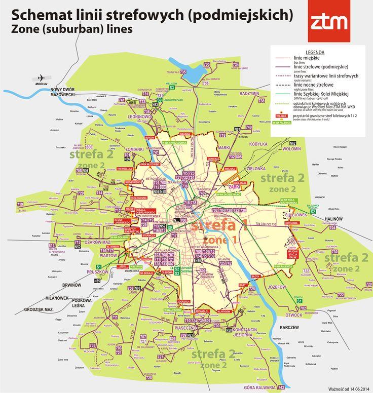 Suburban public transport line #Warsaw