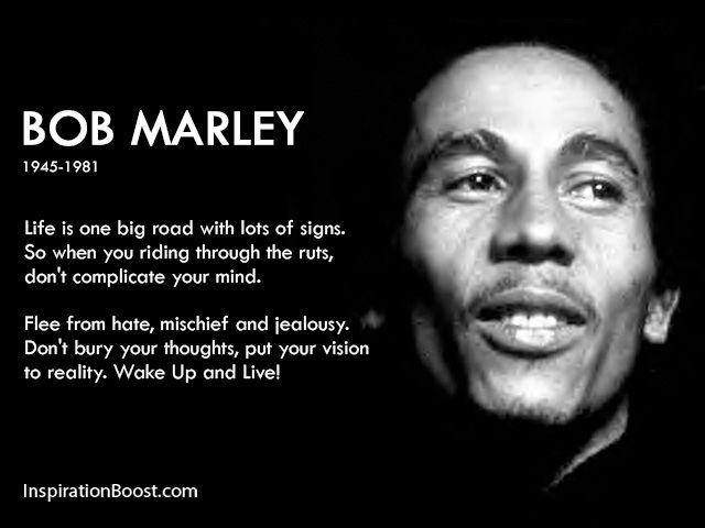 Clear minds lead to stronger results......Bob Marley Life Quotes