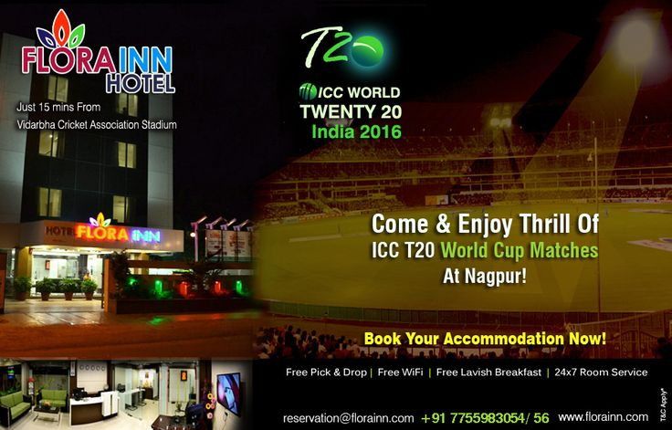 ICC T20 Cricket World Cup 2016 Nagpur Hotels Booking Online - Flora Inn