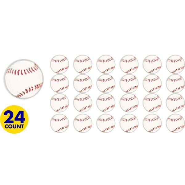 Baseball Bounce Balls 24ct