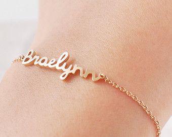Custom Name Bracelet - Personalized Name Bracelet - Baby Name - Her Name His Name - Personaized Keepsake Bracelets - #LA03F http://www.bestjewels4you.com/shop/